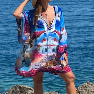 Designed´Santorini´silk tunic 18