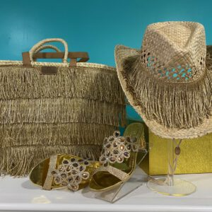 Handmade big beach basket with hat 12