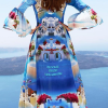 Designed´Santorini´silk dress 2
