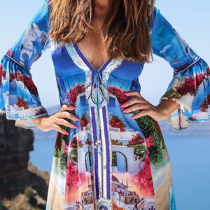 Designed´Santorini´silk dress 9