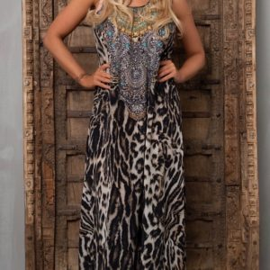 Silk´Flowing´maxi dress Siberia 13