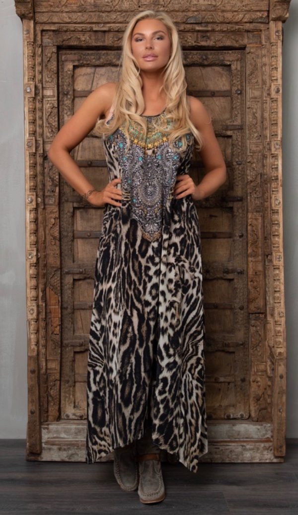 Silk´Flowing´maxi dress Siberia 3