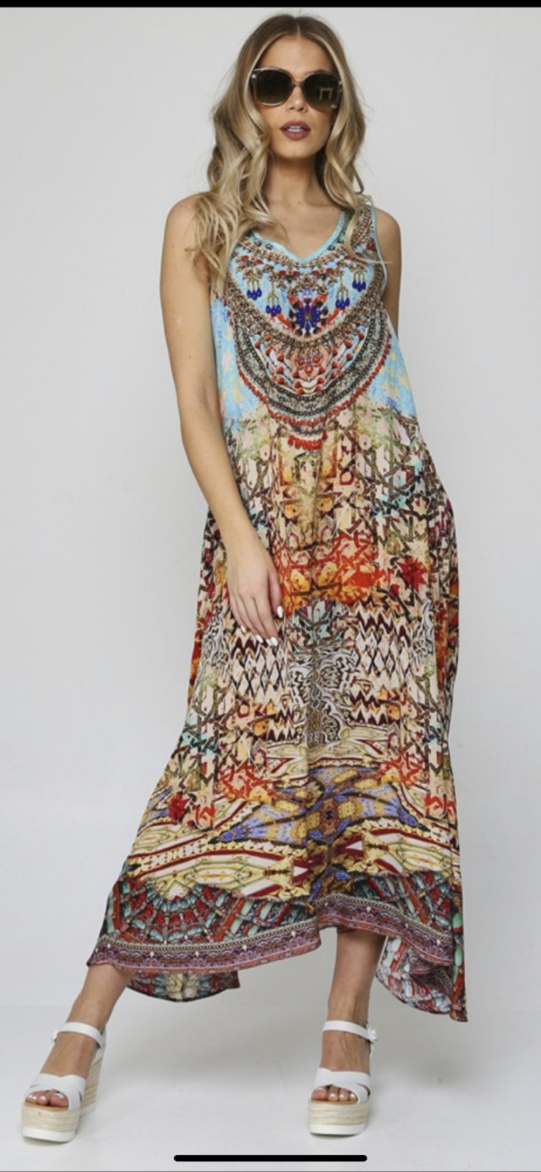 Silk´Flowing´maxi dress Arizona 3