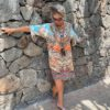 Silk ´Frill´short kaftan Arizona 1
