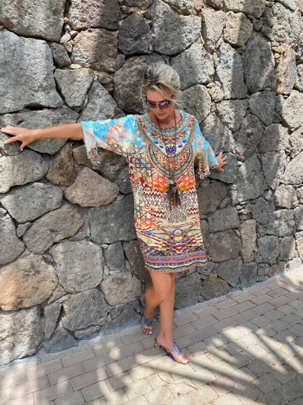 Silk ´Frill´short kaftan Arizona 5
