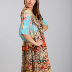 Silk ´Slit sleeve´dress Arizona 12