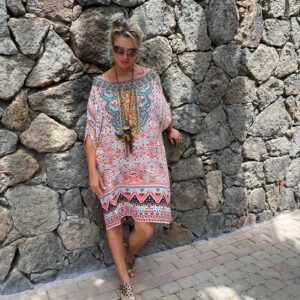 Silk short ´Box´kaftan Aleppo 7
