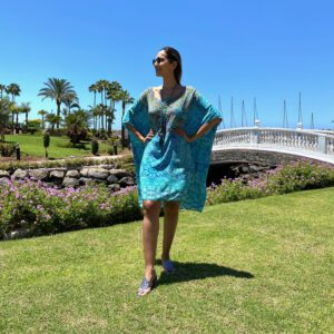 Silk short ´Box´kaftan Atlantis 3
