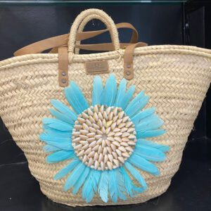 Handmade flower beach bag 5