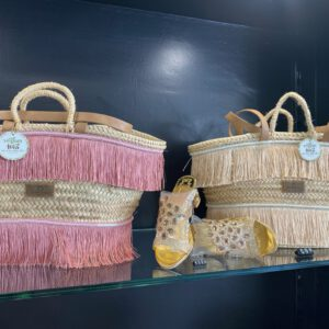 Handmade beach bag with fringes 8